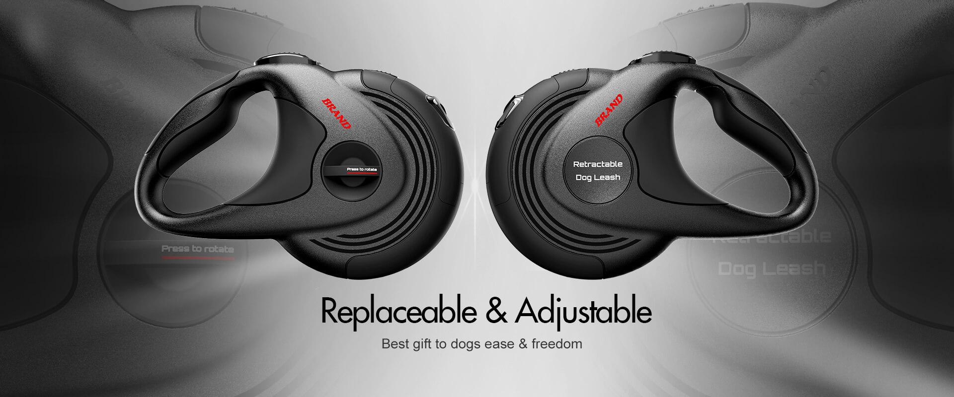 4m length heavy duty dog leash retractable design extending leads anti- slip handle